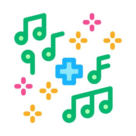 healing music icon vector. healing music sign. color symbol illustration