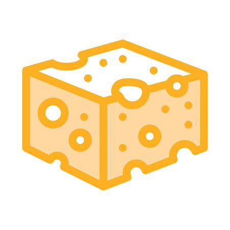 coarse cheese bar icon vector. coarse cheese bar sign. color symbol illustration Ilustrace