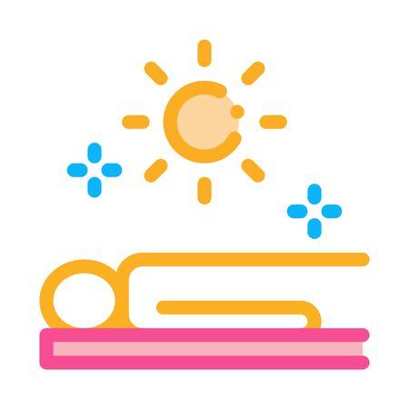 application sun bath icon vector. application sun bath sign. color symbol illustration Illustration