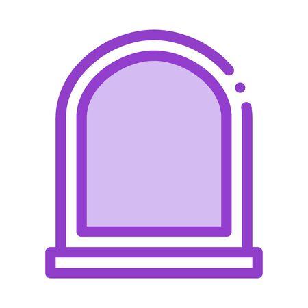 arcuate window icon vector. arcuate window sign. color symbol illustration
