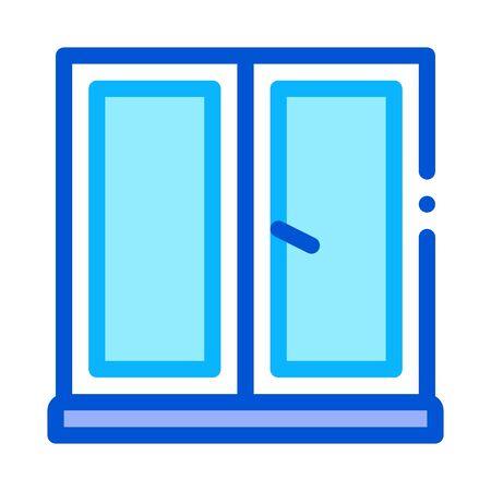 two-half window icon vector. two-half window sign. color symbol illustration 向量圖像