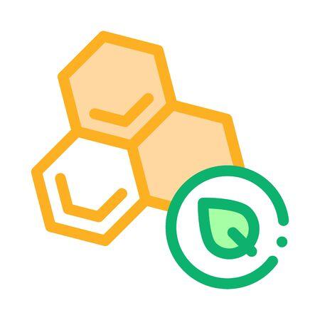 herbal honey icon vector. herbal honey sign. color symbol illustration Illustration