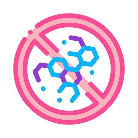 non-recognition of occupational medicine icon vector. non-recognition of occupational medicine sign. color symbol illustration