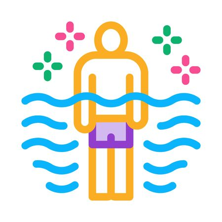 health improvement in pool icon vector. health improvement in pool sign. color symbol illustration