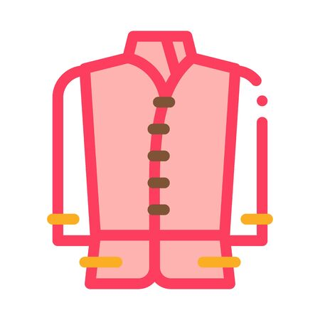 kind of national men costume icon vector. kind of national men costume sign. color symbol illustration  イラスト・ベクター素材
