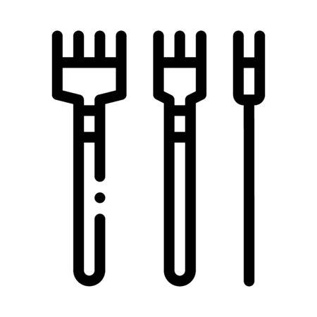 leatherworking crafting tools icon vector. leatherworking crafting tools sign. isolated contour symbol illustration Stock Illustratie