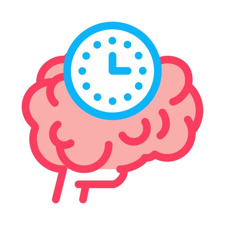 brain reaction time icon vector. brain reaction time sign. color symbol illustration 向量圖像