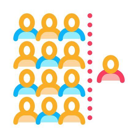 human dementia per population icon vector. human dementia per population sign. color symbol illustration