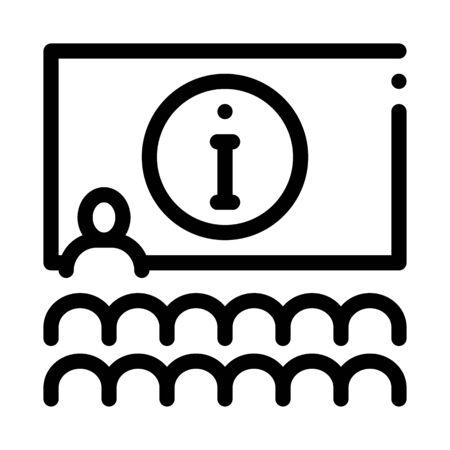 lector information blackboard icon vector. lector information blackboard sign. isolated contour symbol illustration