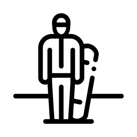 snowboarder sportsman icon vector. snowboarder sportsman sign. isolated contour symbol illustration