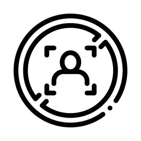 woman refusal mark icon vector. woman refusal mark sign. isolated contour symbol illustration