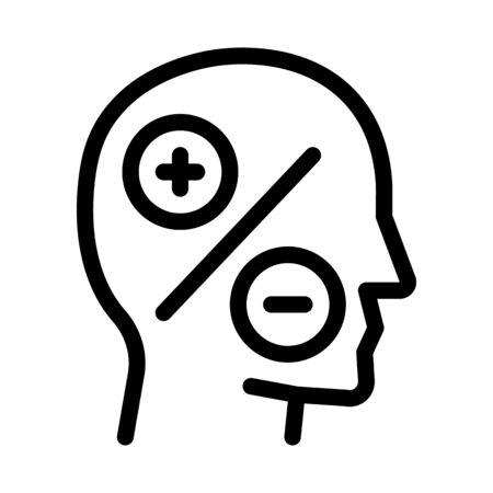 human head plus minus icon vector. human head plus minus sign. isolated contour symbol illustration 向量圖像