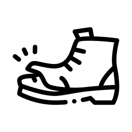 homeless torn boot icon vector. homeless torn boot sign. isolated contour symbol illustration