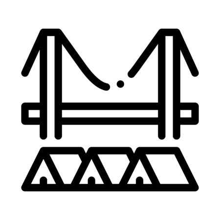 homeless tents under bridge icon vector. homeless tents under bridge sign. isolated contour symbol illustration 向量圖像