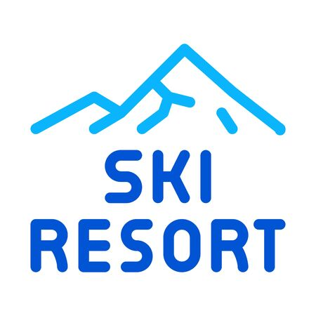 ski resort icon vector. ski resort sign. color symbol illustration