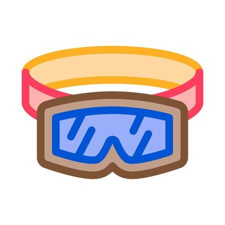 skier protective glasses icon vector. skier protective glasses sign. color symbol illustration