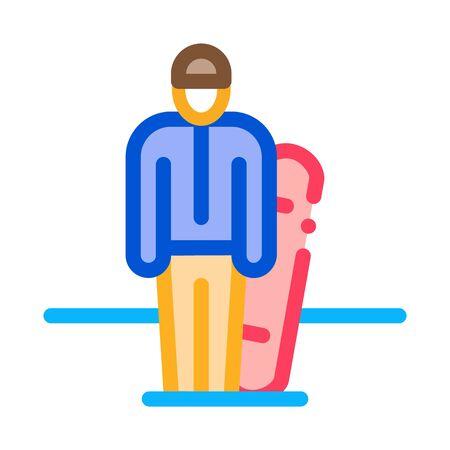 snowboarder sportsman icon vector. snowboarder sportsman sign. color symbol illustration