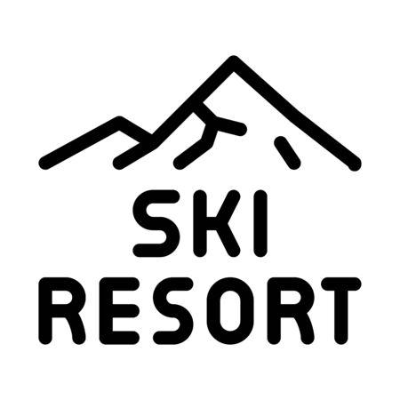 ski resort icon vector. ski resort sign. isolated contour symbol illustration