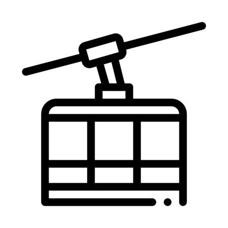 ski resort cableway transport icon vector. ski resort cableway transport sign. isolated contour symbol illustration