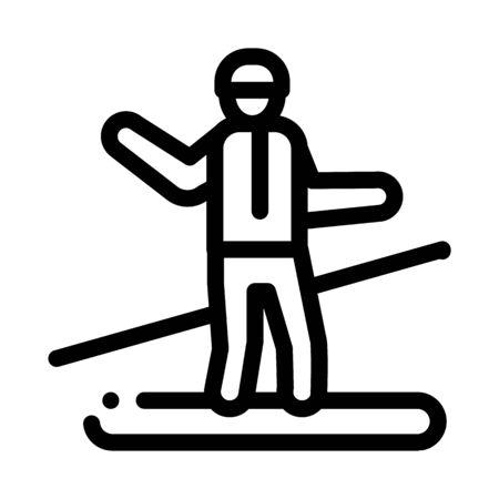 snowboarder slalom icon vector. snowboarder slalom sign. isolated contour symbol illustration