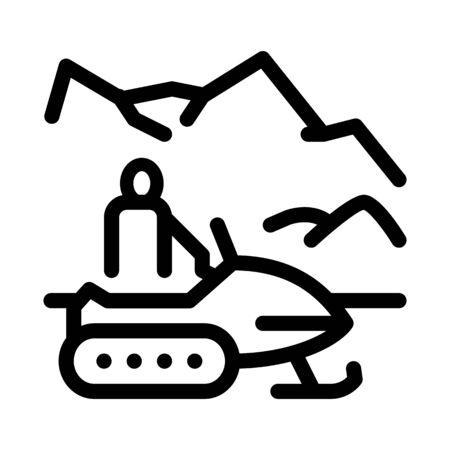 snowmobile winter transport icon vector. snowmobile winter transport sign. isolated contour symbol illustration