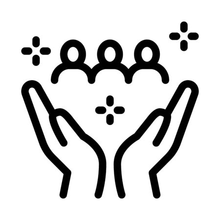 interracial idyllic icon vector. interracial idyllic sign. isolated contour symbol illustration Ilustração