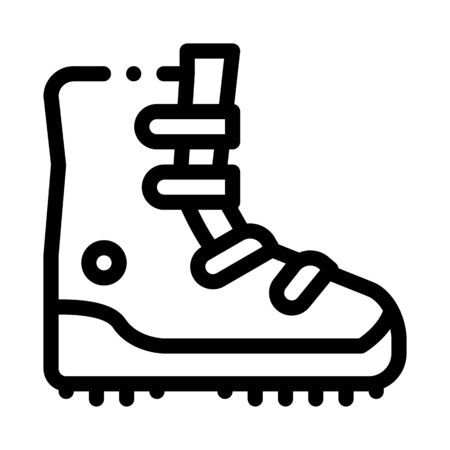 hiking tourist boot icon vector. hiking tourist boot sign. isolated contour symbol illustration