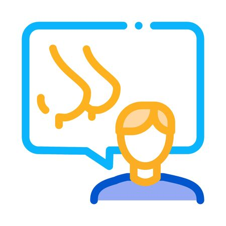 human speak about boobs icon vector. human speak about boobs sign. color symbol illustration