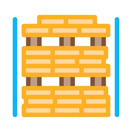 wooden planks store icon vector. wooden planks store sign. color symbol illustration