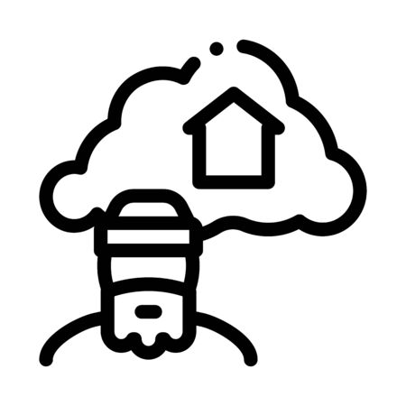 homeless dreaming about home icon vector. homeless dreaming about home sign. isolated contour symbol illustration