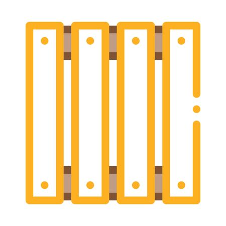 wooden fence icon vector. wooden fence sign. color symbol illustration Stock Illustratie
