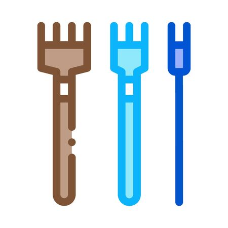 leatherworking crafting tools icon vector. leatherworking crafting tools sign. color symbol illustration Stock Illustratie