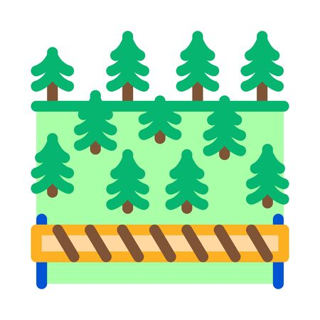 overlapped forest icon vector. overlapped forest sign. color symbol illustration
