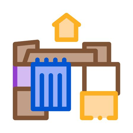 homeless cardboard house icon vector. homeless cardboard house sign. color symbol illustration