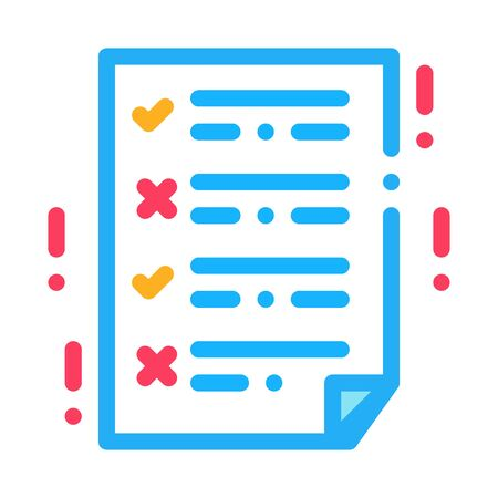 dementia brain test icon vector. dementia brain test sign. color symbol illustration
