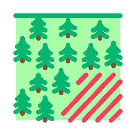 deforestation problem icon vector. deforestation problem sign. color symbol illustration