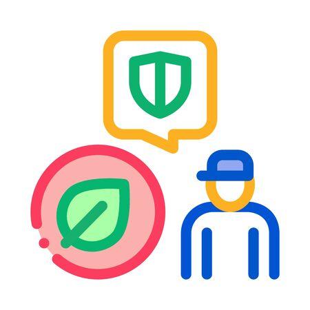 forestry defender protector icon vector. forestry defender protector sign. color symbol illustration