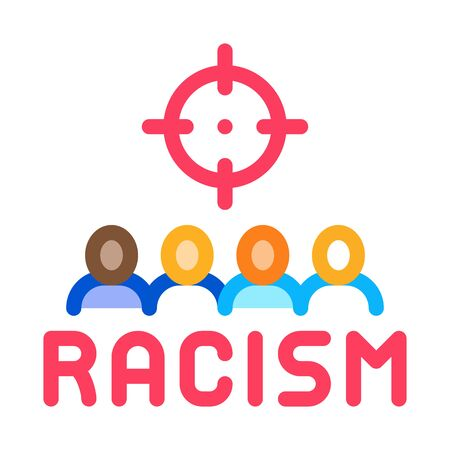 racism target aim icon vector. racism target aim sign. color symbol illustration