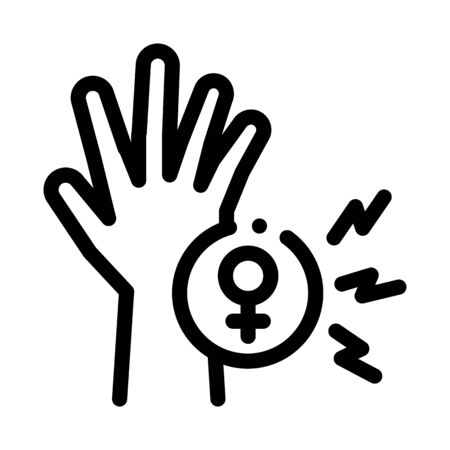 female hand icon vector. female hand sign. isolated contour symbol illustration