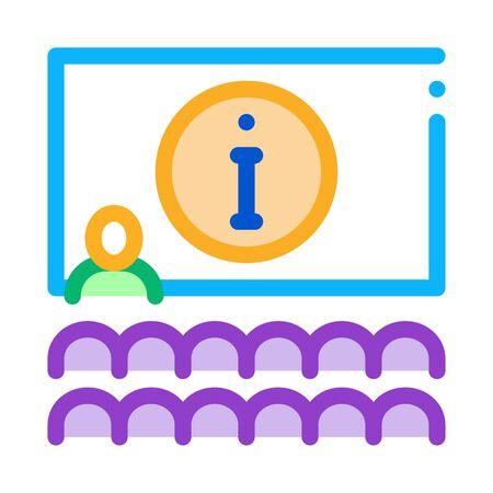 lector information blackboard icon vector. lector information blackboard sign. color symbol illustration