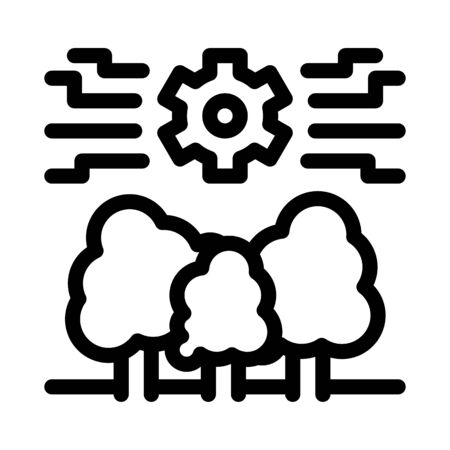 forestry mechanical gear icon vector. forestry mechanical gear sign. isolated contour symbol illustration