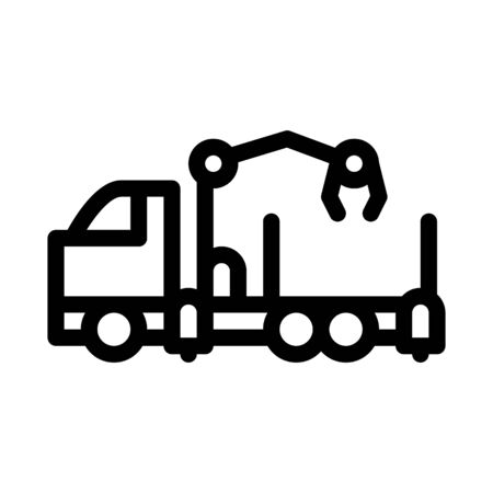 manipulator truck icon vector. manipulator truck sign. isolated contour symbol illustration Illustration