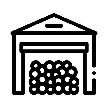 logging storage icon vector. logging storage sign. isolated contour symbol illustration