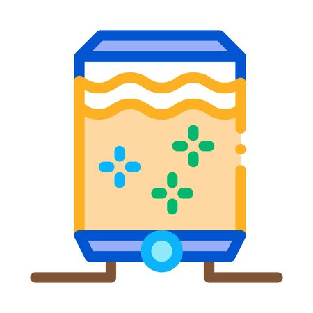 juice concentrate tank icon vector. juice concentrate tank sign. color symbol illustration