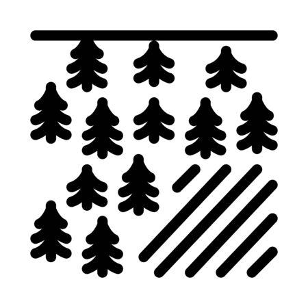 deforestation problem icon vector. deforestation problem sign. isolated contour symbol illustration