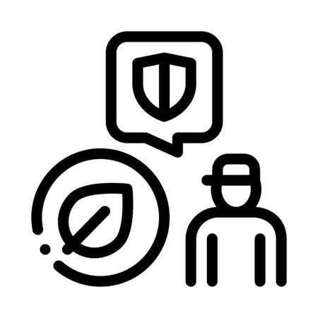 forestry defender protector icon vector. forestry defender protector sign. isolated contour symbol illustration Stock Illustratie