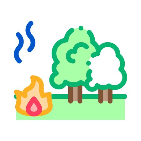 forest fire icon vector. forest fire sign. color symbol illustration