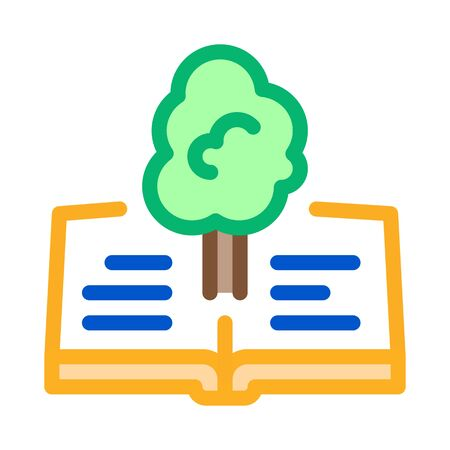 red book tree icon vector. red book tree sign. color symbol illustration