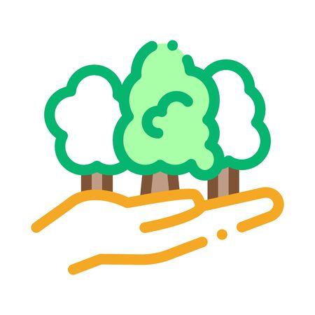 forest safe icon vector. forest safe sign. color symbol illustration