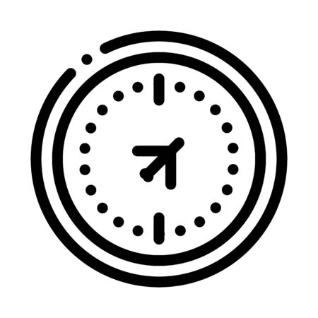 air navigation compass icon vector. air navigation compass sign. isolated contour symbol illustration